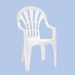műanyag kerti szék - magas támlás