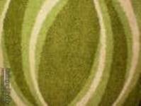 suba szőnyeg -  íves/zöld