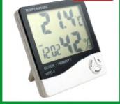 hőmérő, páratartalommérő és óra - digitális