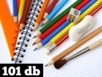 Írószercsomag - extra - ajándék tolltartóval - 101db-os