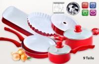 Kerámia edénykészlet - 9 részes - ajándék konyharuha szettel