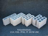 Beton falazóblokk F20