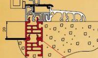 Küszöbsín alsó BKV UP KS 20 PVC szürke