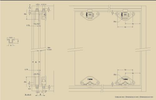 SF-22 bútor tolóajtóvasalat