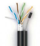 FTP kábel CAT.5E kültéri, feszítőszálas