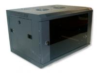 X-Tech - 12U fali rack szekrény 600x450 sötétszürke