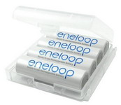 PANASONIC Eneloop 4 db AA akku műanyag tokkal Posta díj 600 Ft