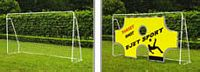 Fém futballkapu 290x165x90 cm