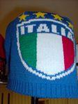 Itália téli kötött sapka