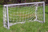 Futballkapu zártszelvényű, fém 2mx1mx0.6m