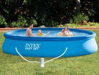 Vízforgatós medence szett 396×84cm INTEX