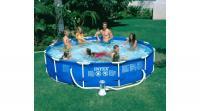 Vízforgatós medence szett, fémvázas, 366×76 cm, vízforgatóval