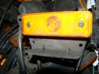 Oldal hosszúság jelző lámpa sárga felcsavarozós