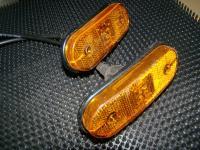 Oldal hosszúság jelző lámpa sárga ledes ovális pár
