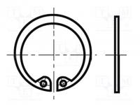 Seeger gyűrű 17-130 mm
