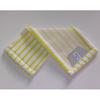 Mikromop, zsebes, fehér-sárga, 50 cm