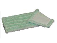 Mikromop, zsebes, fehér-zöld, 40 cm