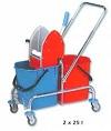 TEMI 003 Kétvödrös takarítókocsi egyszerű