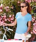 Lady- fit V Neck T 61-382