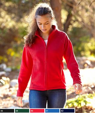 Lady- fit Full Zip Fleece polár pulóver 62-066