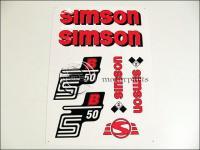 SIMSON 50 MATRICA KLT. S50B PIROS 821278 -HUN
