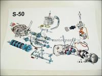 SIMSON  50 SZERELÉSI ÁBRA S50 33150 -DEU