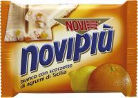 Novipiu fehércsokoládé citrusokkal 60g