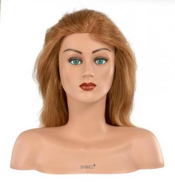 Gyakorló vállas babafej 100%-os emberi hajból (Laura)