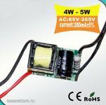 LED áramgenerátor - be: 230V ki: 9 - 16V 300mA