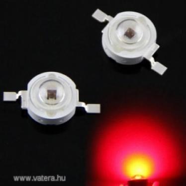 3w piros power LED