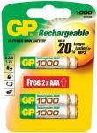 GP 1000mAh NiMH AAA akku 6db-os csomagban