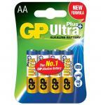 1,5V AA ceruza Ultra Plus alkáli GP elem 4db-os csomagban