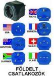 Utazó adapter (átalakító) szett  földelt 150 országban használható