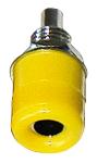 Beépíthető banán aljzat sárga 1 db