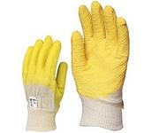 Sárga krepp latex 3800-as kesztyű vágásbiztos, 3800-as csúszásgátló, s