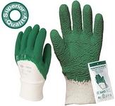 Zöld krepp latex 3810-es kesztyű, vágásbiztos, csúszásgátló, szellőz