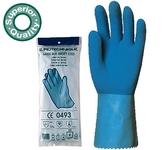 Csúszásmentes 1,2 mm vastag kék 5219-es gumikesztyű