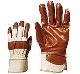 Varrott barna 9050-es nitril kesztyű, vászon kézháttal, csuklógumírozá