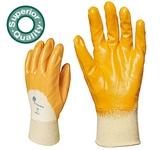 Eurodex 9307-10-es szellőző hátú sárga nitril, gumis mandzsettával