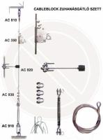 Cable zuhanásgátló szett AC350SET  (Cableblock, 10m kábel, feszítő,