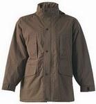 BURBER khaki utcai XBURB kabát,  Taslan-Oxfod anyag, puha polárbélés