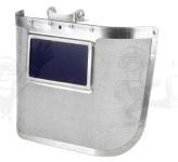 Kohász 60677-es arcvédő, sisakra szerelhető, 300 x 170 mm-es acélháló,