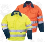 Patrol kabát narancs/kék rejtett  gombolás, három zseb, hat darab 3M-