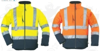 Narancs kabát, lélegző, vízhatlan  softshell anyagból, kiváló  hőszi