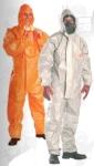 Tychem F szürke védőoverall  nagynyomású vegyszerek, radioaktív  rés