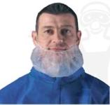 Szakállvédő, fehér gumis 14g-os polipropilén   100 db/ doboz 45540-es