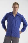 Lángálló ing antisztatikus, hosszú ujjú, galléros kék modakril/pamut i