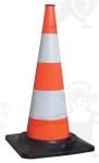 Jelzőbója, fényvisszaverő, 75 cm magas, stabil talppal, piros-fehér  7