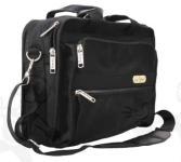 Lux Optical váll- és laptop táska, két cipzáros rekesz, négy zseb, vál