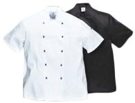 Portwest C734x Kent Séfkabát,  szakácskabát fekete
